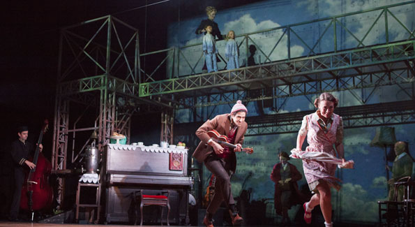 The cast in Kneehigh's U.S. tour of 'Brief Encounter.' (Photo by Jim Cox)