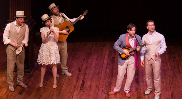 "Fiasco Theater ""The Two Gentlemen of Verona"" at Folger. (Photo by Jeff Malet)"