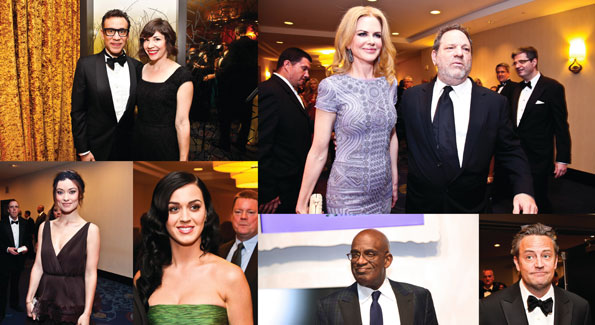 Clockwise from top left: Fred Armisen and Carrie Brownstein, Nicole Kidman and Harvey Weinstein, Matthew Perry, Al Roker, Katy Perry and Olivia Wilde (Photos by Tony Powell and Ben Droz)