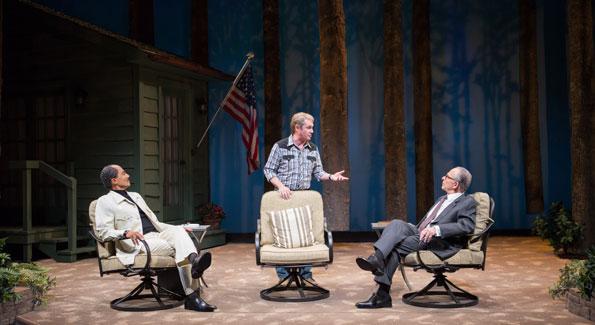 'Camp David' stars Khaled Nabawy, Richard Thomas and Ron Rifkin. (Photo by Teresa Wood)