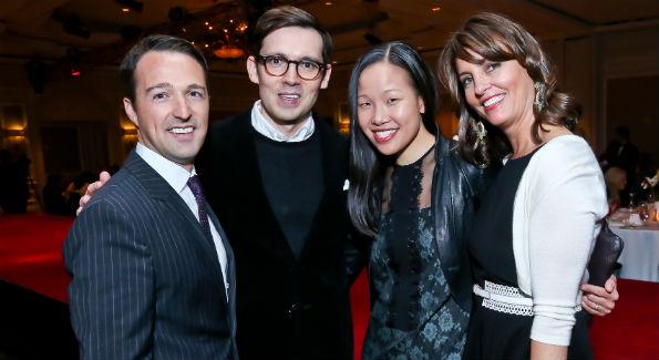 John Antonini, ErdemMoralio?lu, Sarah Tam and Kerri Larkin at the 2014 Great Ladies Luncheon and Fashion Show. (Photo by Tony Powell)