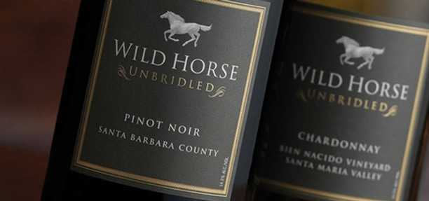 Wild Horse wines are perfect for springtime entertaining, like their Central Coast Pinot Noir. Photo courtesy Wild Horse Winery.
