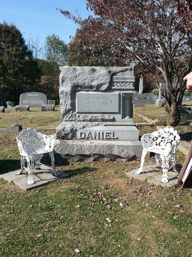 Jack Daniel's grave in Lynchburg, Tennessee. Photo courtesy of Kelly Magyarics.
