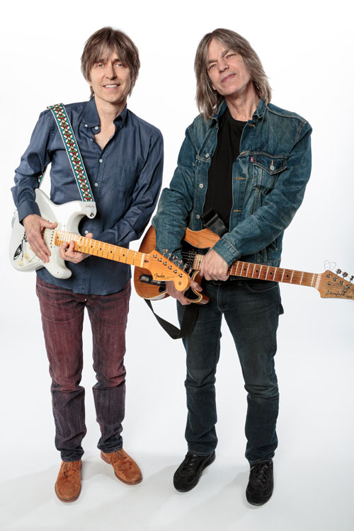 Eric Johnson (L) co-headlines with Mike Stern on their current tour. (Photo courtesy Max Crace)