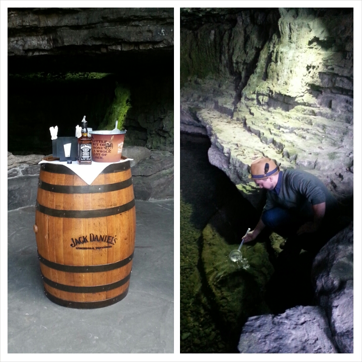 Tasting Jack Daniel's mixed with a splash of the spring water from which it's made. Photo courtesy of Kelly Magyarics.