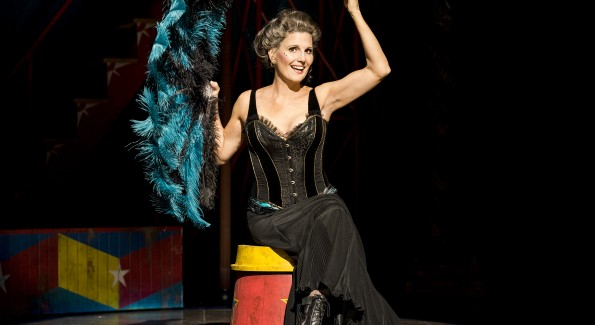 Lucie Arnaz as Berthe in the National Theatre's production of Pippin. (Photo by Terry Shapiro)