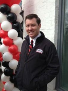 Capriotti's Georgetown outpost owner George Vincent at the shop's grand opening on December 15, 2014