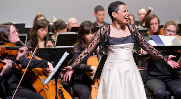 Soprano Harolyn Blackwell recently joined the Apollo Orchestra in concert at The Kennedy Center, performing the songs of Ricky Ian Gordon. (Photo:  Courtesy of Apollo Orchestra)
