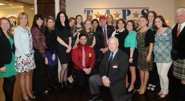 Eric Dane with the staff at TAPS HQ (Photo by Jackie Ross for TAPS)