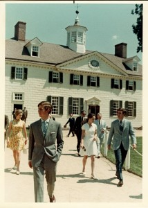 Prince Charles during his 1970 trip to Mount Vernon (Photo Courtesy Mount Vernon Archives)