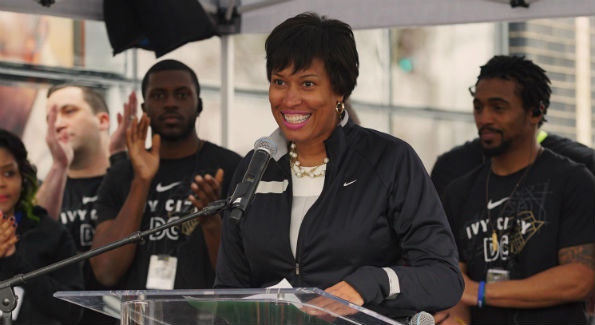 Mayor Muriel Bowser at the opening of Nike store in Ivy City (Photo courtesy Nike)