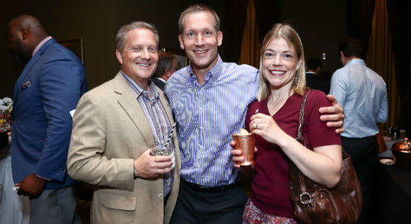 Anthony Burchard, Chad and Karin Fleschner (Photo by Tony Powell)
