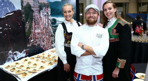 Nina Langli Royal Norwegian Embassy Executive Chef Sindre Risvoll Karoline Afloy (Photo by Tony Powell)