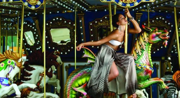 Fashion shoot with T H E model Yana xx at the National Harbor. (Photo by Tony Powell)