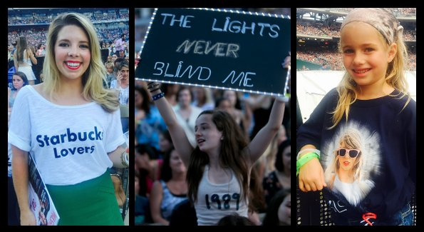 """""""Swifties"""" at the show (Photos by John Arundel and Cecilie Olaussen)"""