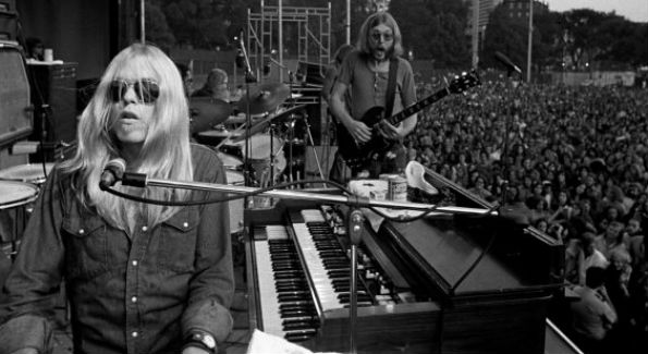 Gregg and Duane whip it up in the early 70's (Photo Credit Peter Tarnoff/Retna Ltd, via Corbis)