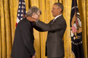 Famed author Steven King was among the 2014 National Medal of Arts Recipients at The White House.