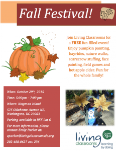 Don't miss Fall Festival on October 29 (Photo courtesy Living Classrooms)