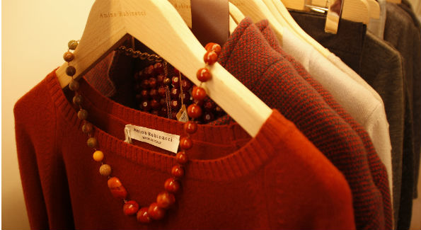 Sweaters at Amina Rubinacci in Georgetown (Photo by Catherine Trifiletti)