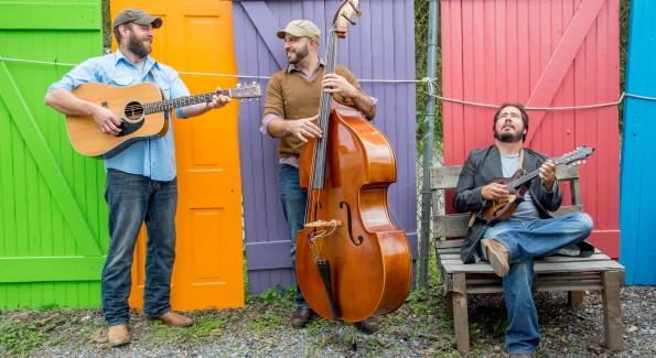 Mason Porter has a new EP out, Key To The Highway, L-R: Paul Wilkinson, Tim Celfo, Joe D'Amico (Photo courtesy Mason Porter)