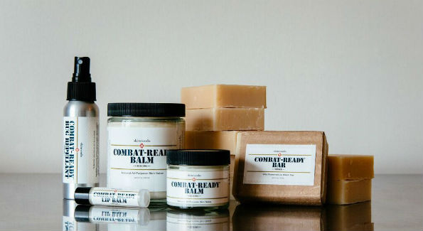 "SKINCANDO's popular ""Combat-Ready"" products (Photo by Brittany Cummings Photography)"