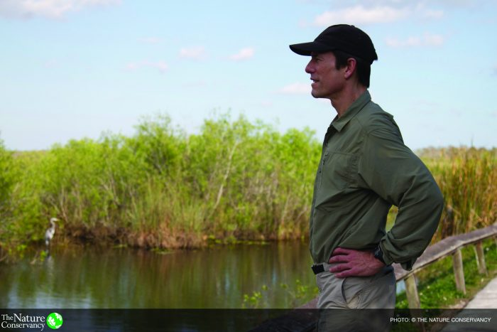 TNC's President and CEO Mark Tercek in Everglades National Park. Photo credit: © Erika Nortemann/TNC