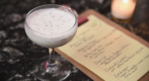 """The Grasshopper"" cocktail with creme de menthe, creme de cacao, cream and fresh mint (Courtesy Photo)"