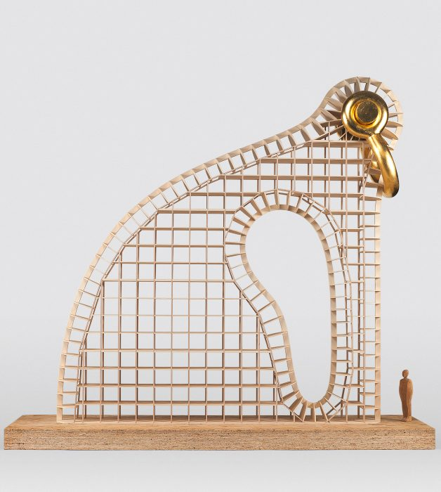"""Martin Puryear, maquette for """"Big Bling"""""""