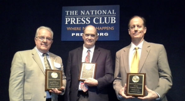 Three NSA whistle blowers (left to right) J