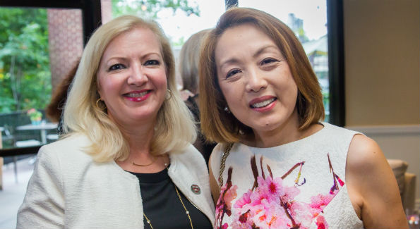 Ramona Mockoviak and Sachiko Kuno (Photo by Erin Schaff)