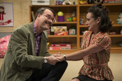 Tim Getman and Susan Rome in Hand to God at Studio Theatre (Photo by Amy Horan)