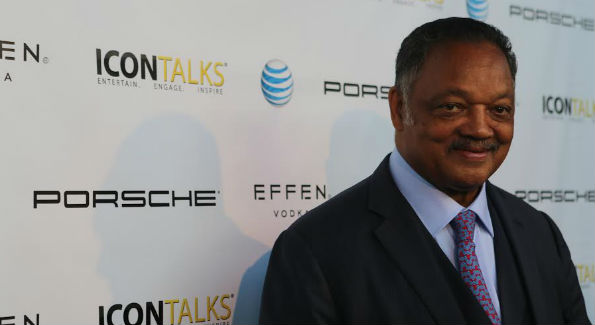 Reverend Jesse Jackson on the red carpet at Icon Talks