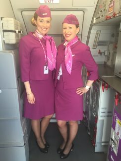 WOW Air flight attendants (Photo by Erica Moody)