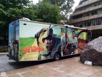 Cesar and Andre Millan travel cross-country in their RV to film Dog Nation.