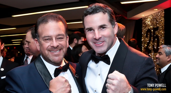 Raul Fernandez and Kevin Plank at the 2014 Fight Night.