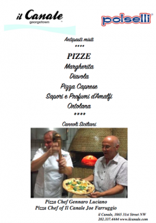 The evening's menu boasted some of the two chefs' most popular pizzas.