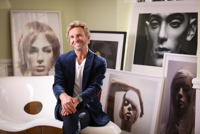 Pascal Blondeau in his studio, residence of the French ambassador (Photo by Tony Powell)