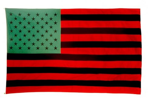 African American Flag by David Hammons, 1990