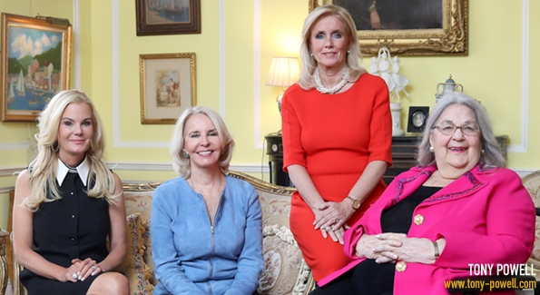 Susanna Quinn, Sally Quinn, Rep. Debbie Dingell and Esther Coopersmith chatted with us in Coopersmith's Kalorama home.