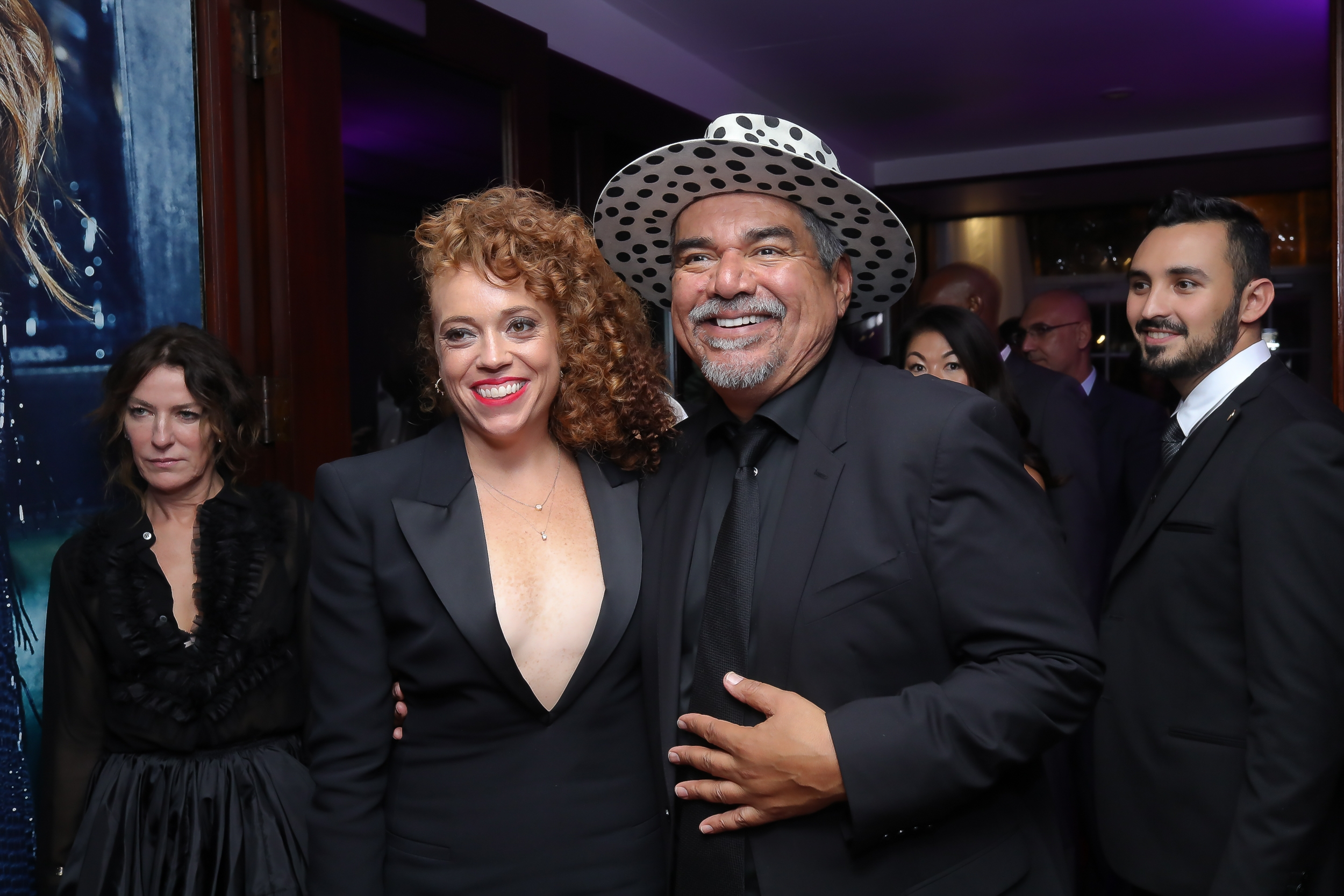 Michelle Wolf and George Lopez